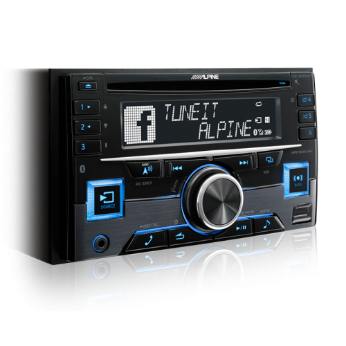 Alpine CDE-W265EBT 2-DIN CD Receiver with Bluetooth/USB/iPod/iPhone/PANDORA